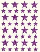 Gomets estrella holográfico lila