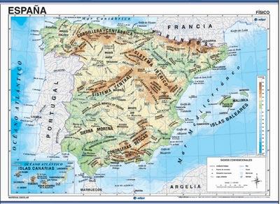 España físico / político