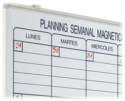 Plannings magnéticos 90 x 120 cm