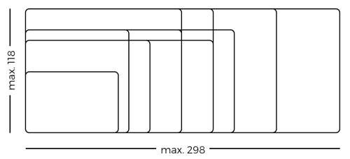 Pizarra blanca curva Camaleón acero vitrificado detalle 4
