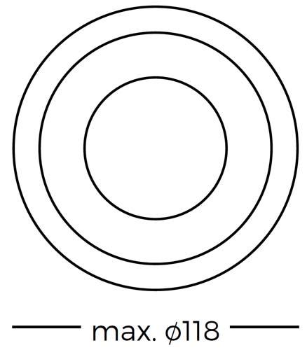 Pizarra blanca Camaleón círculo detalle 2