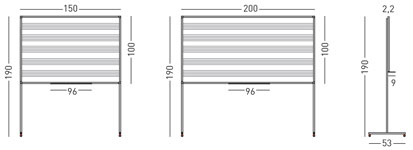 Pizarra blanca de acero vitrificado pentagramas con soporte en T detalle 1