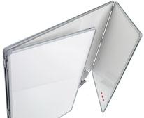 Pizarra blanca tríptica de acero vitrificado detalle 1
