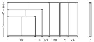 Vitrinas con puertas correderas, fondo magnético detalle 1