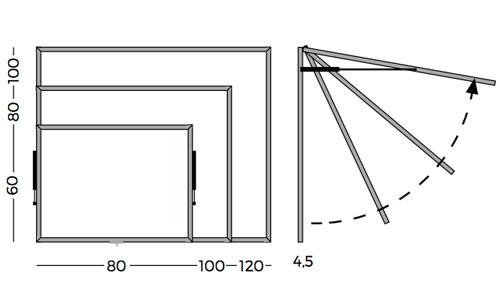 Vitrinas puertas telescópicas con fondo magnético detalle 4