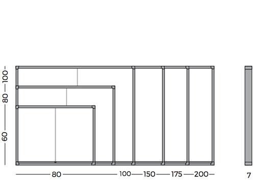 Vitrinas con puertas correderas, fondo magnético detalle 5