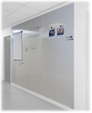 Pizarra blanca acero vitrificado muro