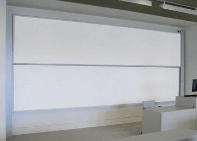 Pizarra blanca guillotina acero vitrificado