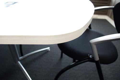 PIzarra mesa Camaleón acero vitrificado detalle 1