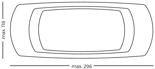 PIzarra mesa Camaleón acero vitrificado detalle 3