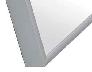 Detalle pizarra blanca acero vitrificado marco MINI