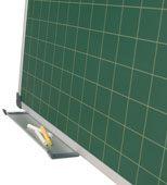 Pizarra verde de acero vitrificado cuadriculada detalle 1