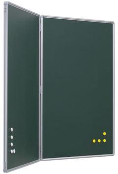 Pizarra verde díptica de acero vitrificado