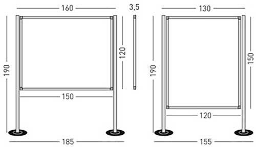 Biombos modulares para exposición detalle 5