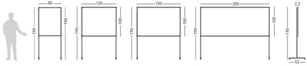 Detalle tablón corcho tapizado