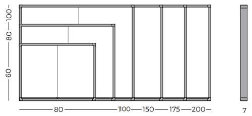 Mini Vitrinas con puertas correderas, fondo tapizado detalle 6