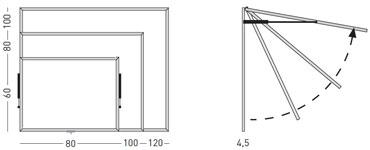 Vitrinas con puertas telescópicas, fondo tapizado detalle 2