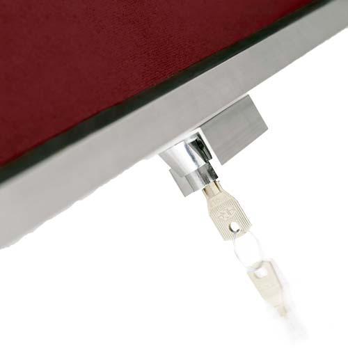 Mini Vitrinas con puertas telescópicas, fondo tapizado detalle 6