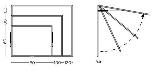 Mini Vitrinas con puertas telescópicas, fondo tapizado detalle 7