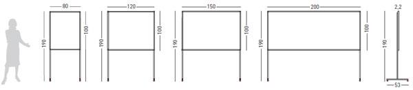 Detalle tablón corcho con soporte
