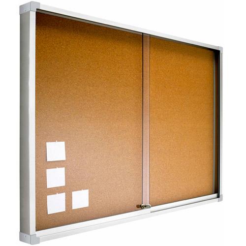 Vitrinas con puertas correderas, fondo corcho detalle 5