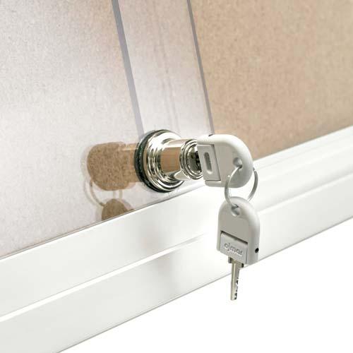 Mini Vitrinas con puertas correderas, fondo corcho detalle 5