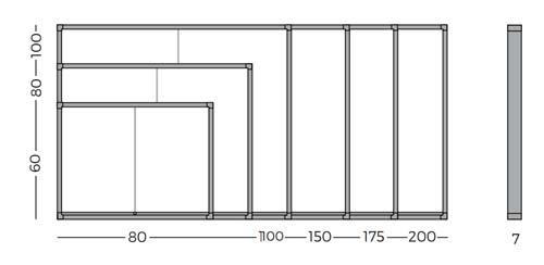Vitrinas con puertas correderas, fondo corcho detalle 7