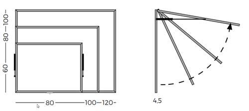 Vitrinas con puertas telescópicas, fondo corcho detalle 4
