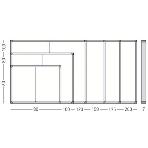 Vitrinas con puertas correderas, fondo corcho detalle 6