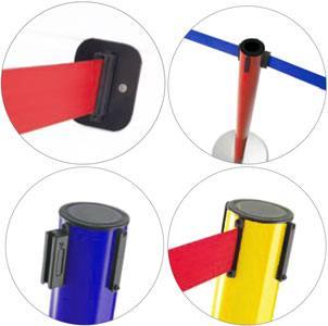 Postes separadores de cinta extensible retráctil detalle 1