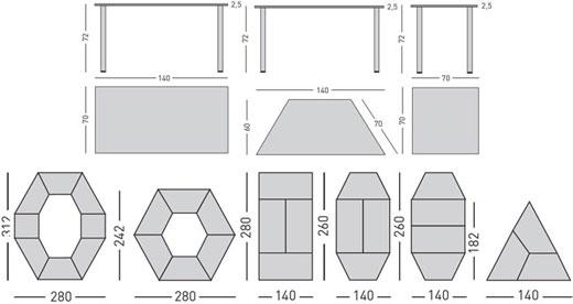 Mesas modulares detalle 4