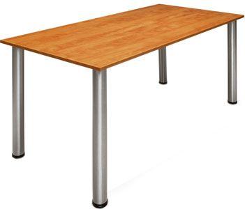 Mesas modulares con patas plegables