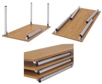 Mesas modulares con patas plegables detalle 1