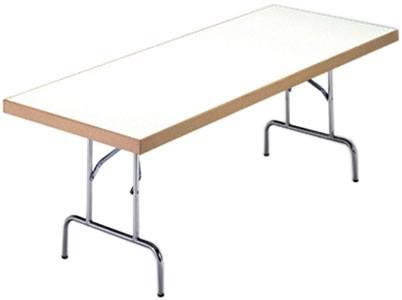 Mesa multiusos plegables rectangulares blancas