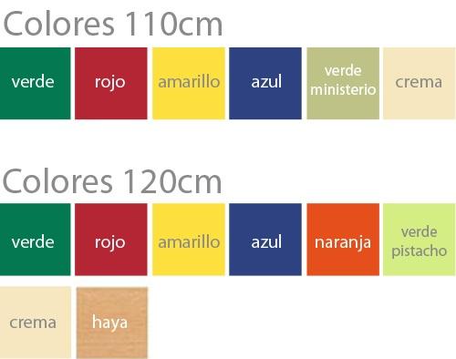 Mesas FERRO estructura metálica Semicirculares colores
