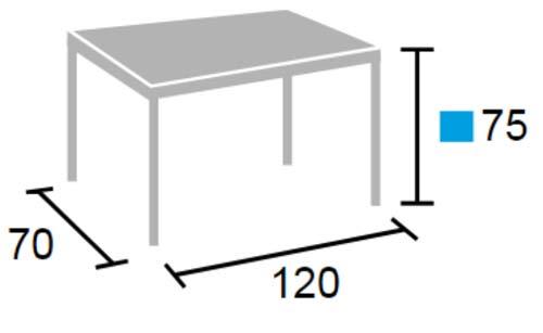 Mini Mesa de profesor 120 x 70 cm detalle 2
