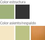 Colores silla escolar de pala