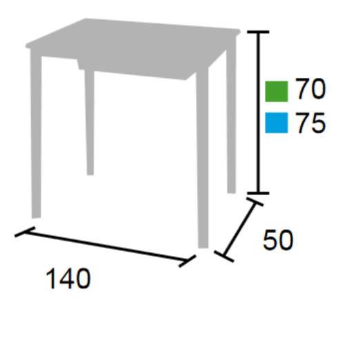 Pupitre escolar 140 x 50 cm detalle 5