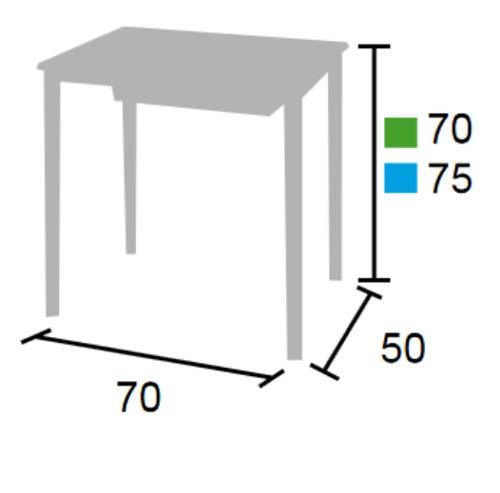 Pupitre escolar 70 x 50 cm detalle 5