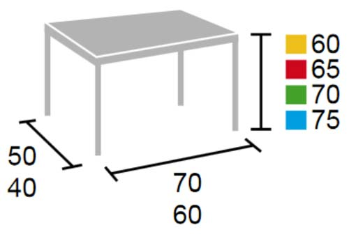 Pupitre alumno 60 x 50 cm detalle 5