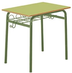 Pupitre escolar verde-verde