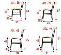 Medidas sillas alumnos