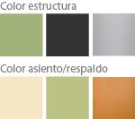 Colores silla escolar