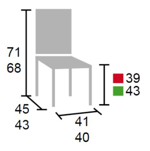 Silla para colgar en mesas colectivas detalle 1