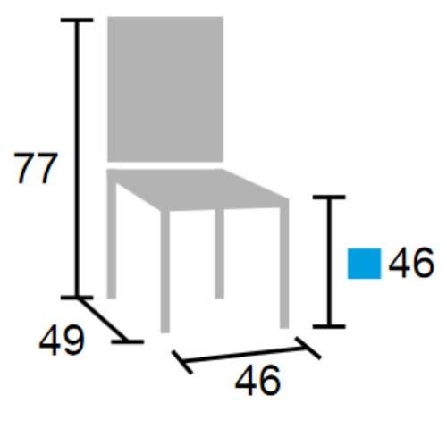 Silla para colgar en mesas colectivas detalle 2