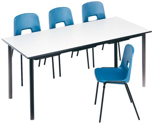 Mesa colectiva escolar T4 (para sillas para colgar) detalle 2
