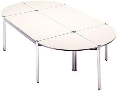 Mesas modulares para formar conjuntos a medida