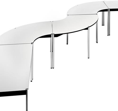 Mesas modulares para formar conjuntos a medida detalle 8