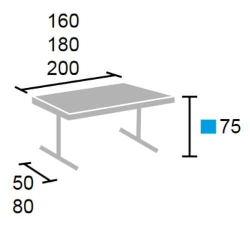 Mesa plegable T6 detalle 1