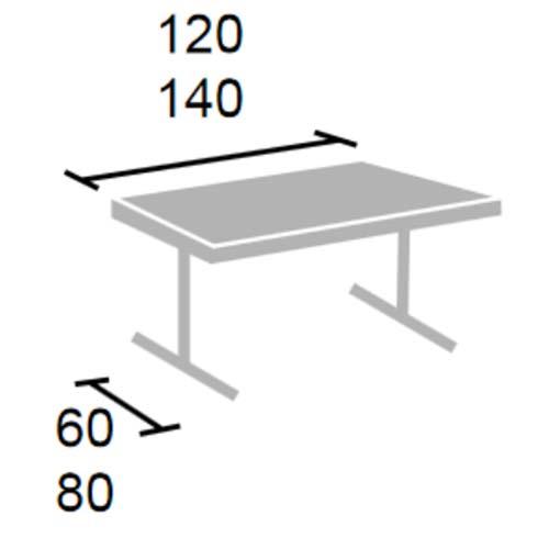 Mesa LULA adulto con patas plegables detalle 8
